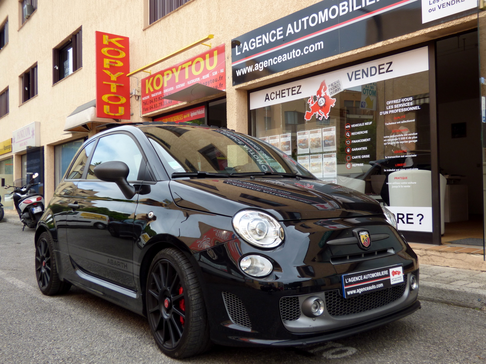 fiat 500 abarth 595 competizione 180 ch occasion cannes pas cher voiture occasion alpes. Black Bedroom Furniture Sets. Home Design Ideas